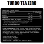 ABB- Turbo Tea Zero- Nutrition Facts