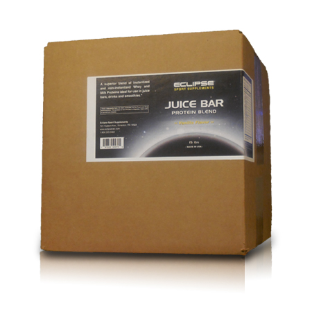 Eclipse Sport Supplements- Juice Bar Protein 15lb Vanilla