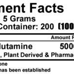 Millennium Sport Technologies- Glutamine- Nutrition Facts