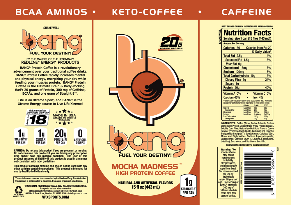 VPX- Bang Keto Coffee Mocha Madness Label